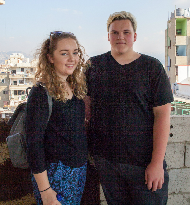 Leah and Ryan in Lebanon last year.