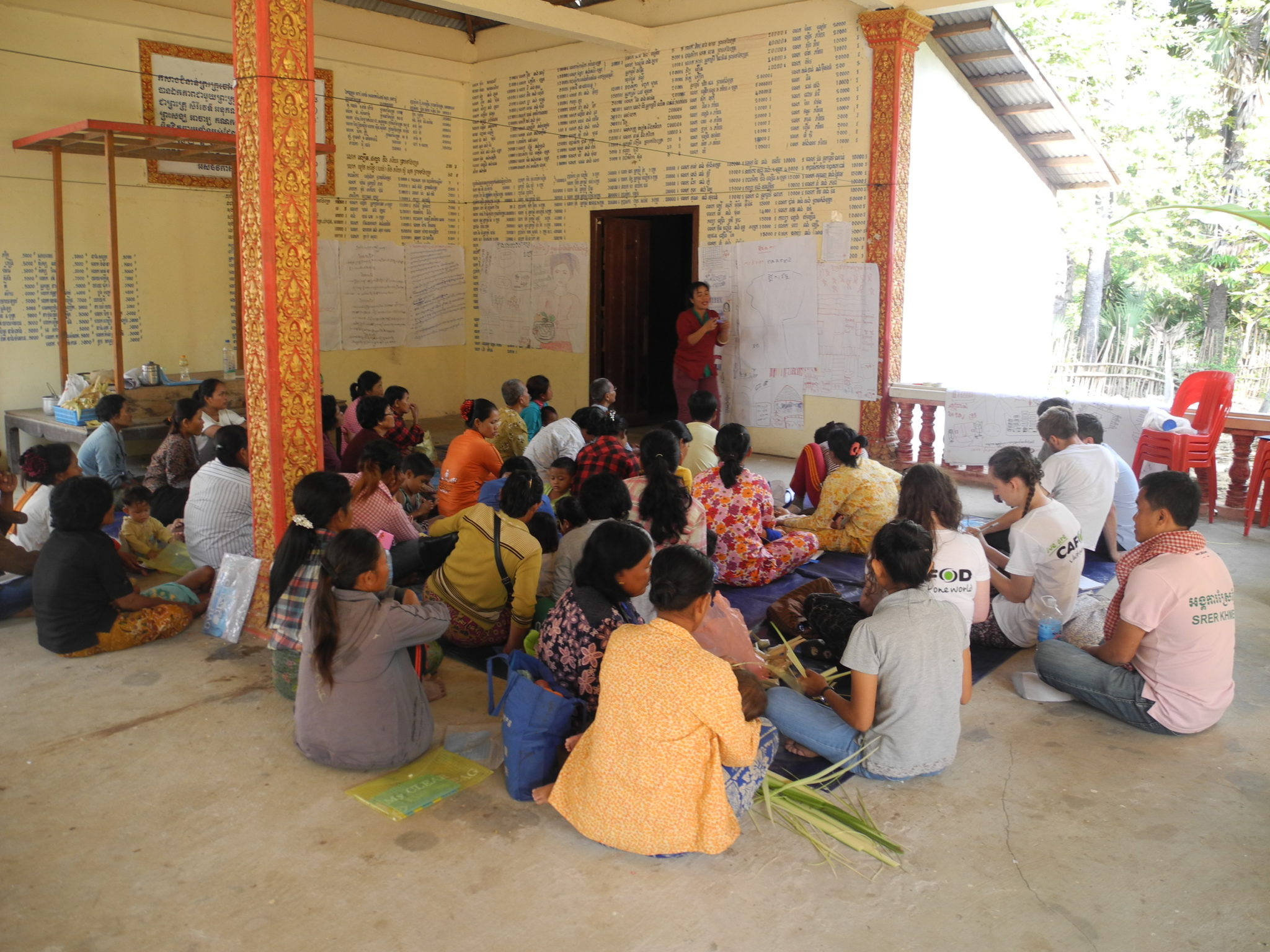 The women's self-help group CAFOD's partner Srer Khmer supports