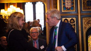 Eleanor Margetts meeting Commons Speaker the Rt Hon John Bercow MP