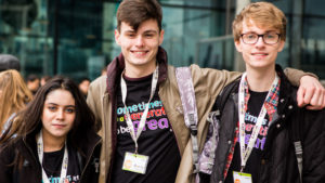 CAFOD volunteers at Flame 2017