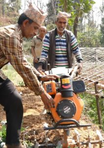 """Now we can do the same work with a mini-tractor in about two hours"" - Bhawanatha"