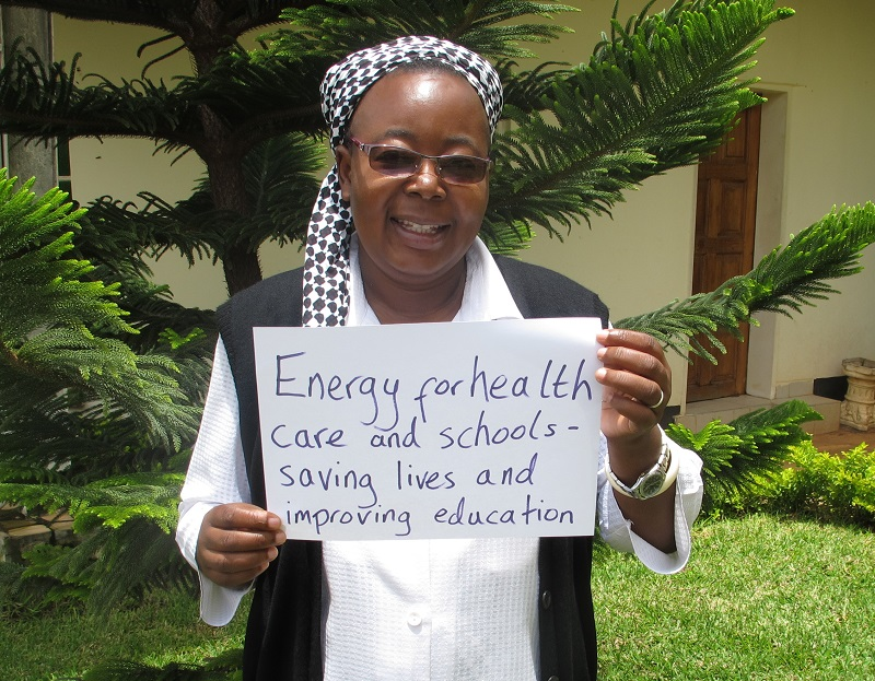 CAFOD partner Sr Mathilde - 'Energy for healthcare saves lives'
