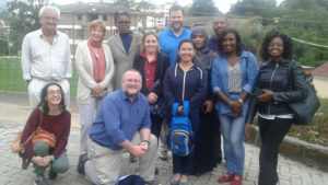 Blog author Michael O'Riordan with his CAFOD colleagues