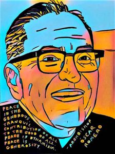 Image of Romero created by the New York Peace Institute