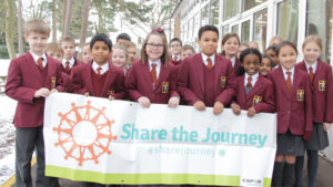 Children and young people join the CAFOD Share the Journey campaign.