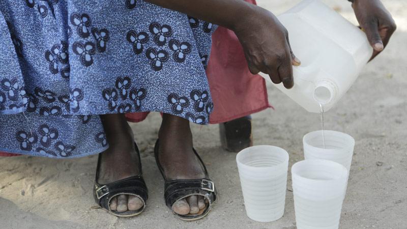 Zimbabwe, water from Chiwashira Dam