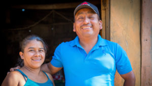 Edelmira and her husband Martir in El Salvador