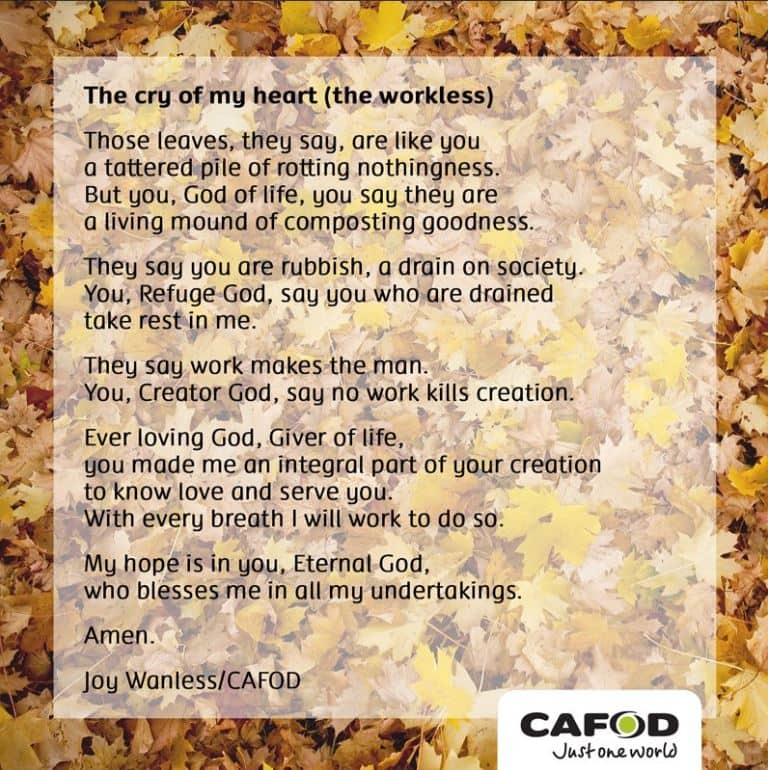 Prayer on poverty CAFOD