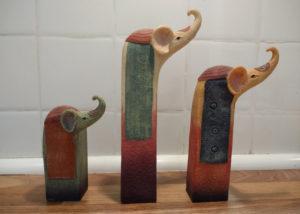 Weird clay elephant ornaments