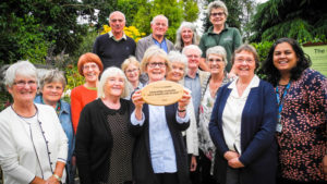 The members of the Justice and Peace and Livesimply group in St John the Baptist Cathedral in Norwich, East Anglia diocese, after receiving the 27th livesimply award. Carol, who shares her experience in this blog, is the one holding the livesimply award