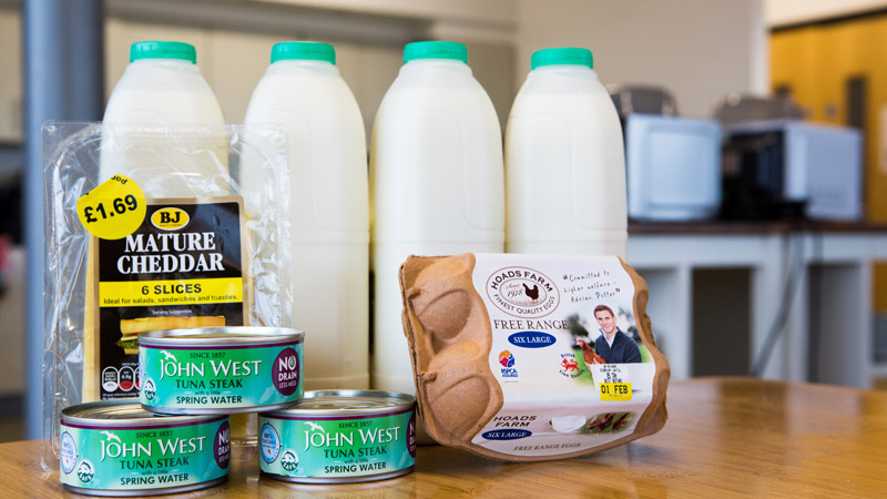 Milk, eggs, fish and cheese - all the things Susy's giving up for Lent