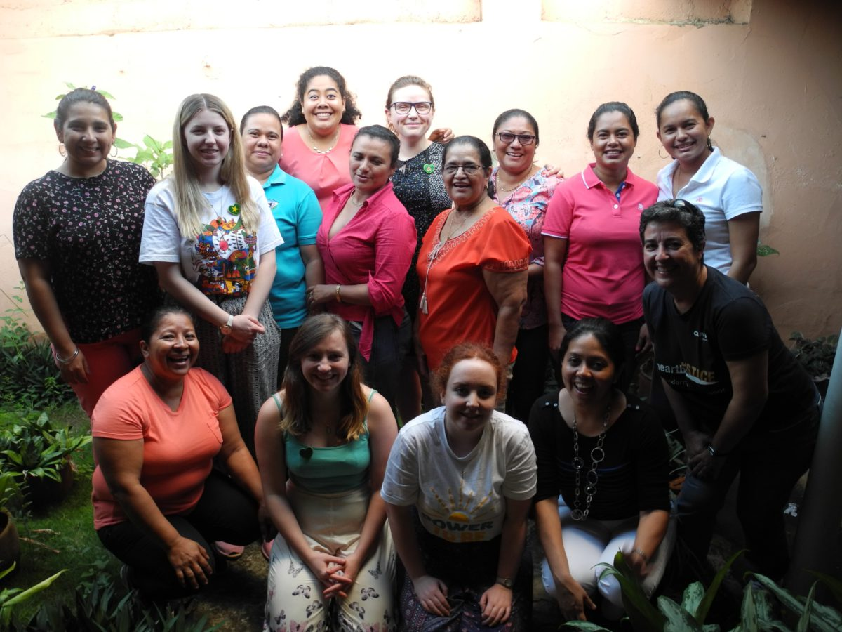 Staff of Mary Barreda Association with the Step into the Gap volunteers.