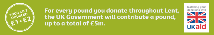 For every £1 you donate, the UK Government will contribute £1 also.