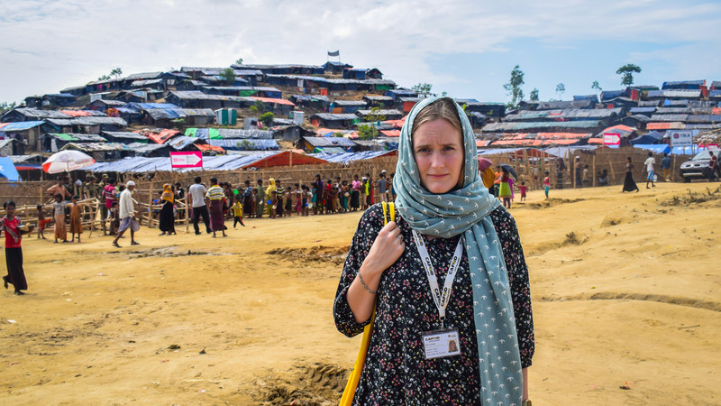 Zoe Corden from CAFOD is in one of the camps for Rohingya refugees in Cox's Bazar