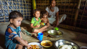More than 680,000 people are now estimated to have fled to Bangladesh, escaping violence in Rakhine State in neighbouring Myanmar.