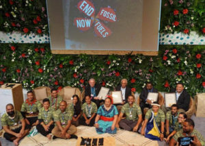 Climate Warriors speaking out on Climate Change in the Pacific in Bonn in Germany
