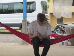 Rod in Cambodia with CAFOD.