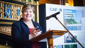 Emily Thornberry speaking at MPC event
