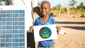 Svondo and his family got access to Solar Panel thanks to CAFOD campaign Power to Be