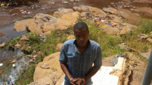 Matthew and his community were helped by CAFOD partners following the landslides in Sierra Leone