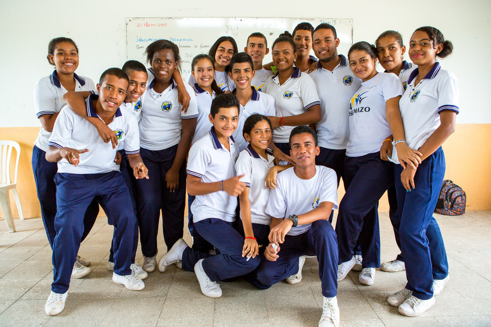 Young people in Colombia