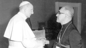 Oscar Romero meets Pope Paul VI, June 1978