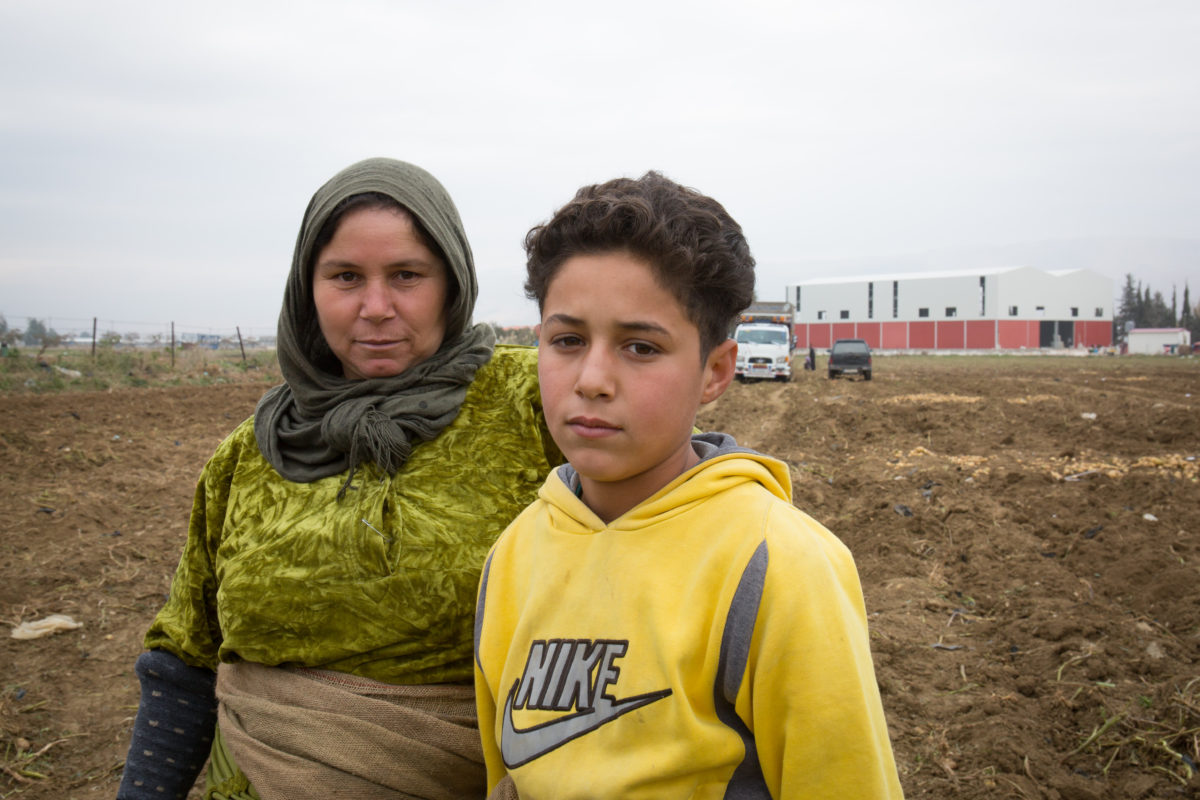 Eight year old Karim, a Syrian refugee.