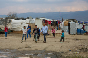 Some of the Syrian refugee children living in the Bekaa Valley.
