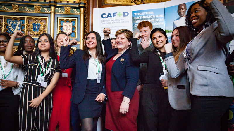 Emily Thornberry, MP and  the MPC's at the CAFOD MP Correspondent Annual Parliamentary Reception