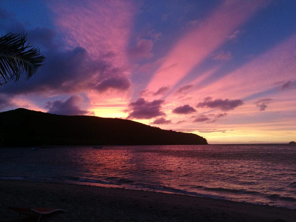 Sunset across Fiji
