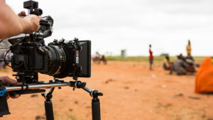 Filming in Kenya