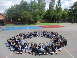Our Lady of Lourdes Primary school taking part in our Zero Hero campaign