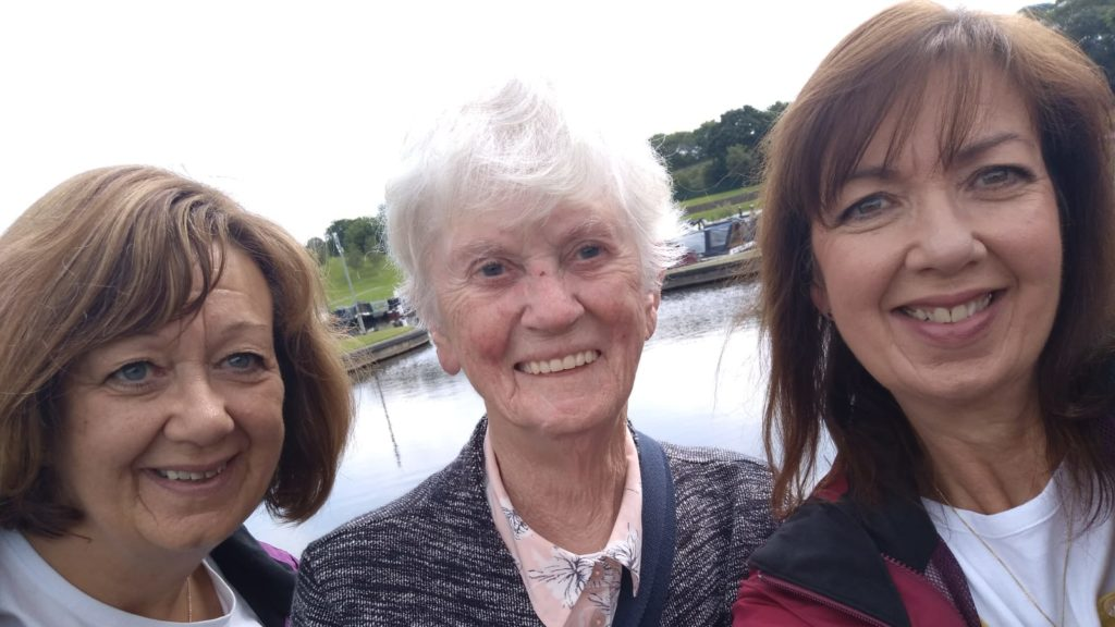 Parishioners on a memory walk