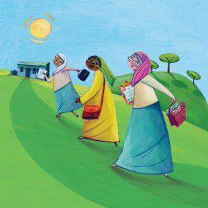 Change a woman's world, World Gift illustration