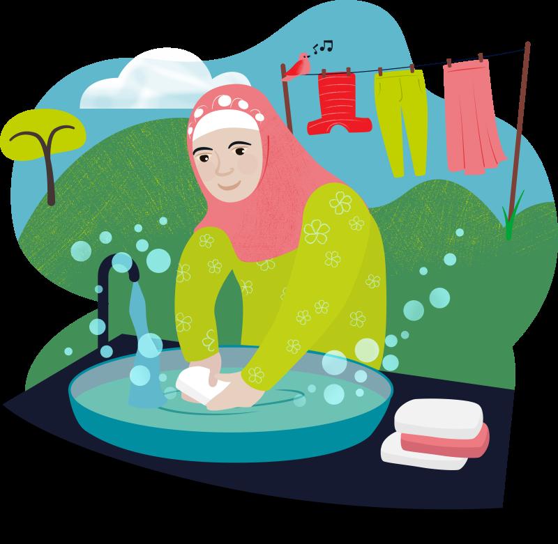 Keep clean kit, World Gift illustration