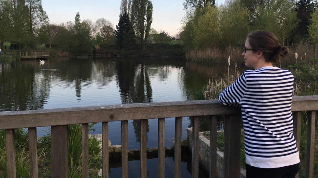 Barbara finds nature in a duck pond in her local park during her daily run