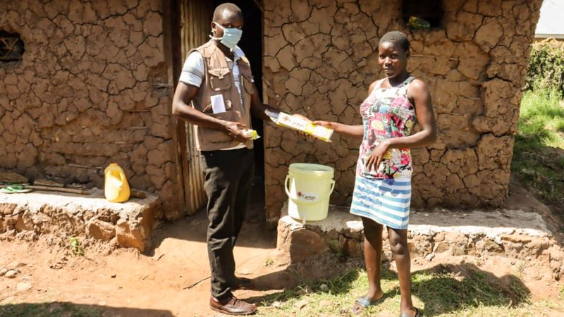 Food and hand-washing supplies