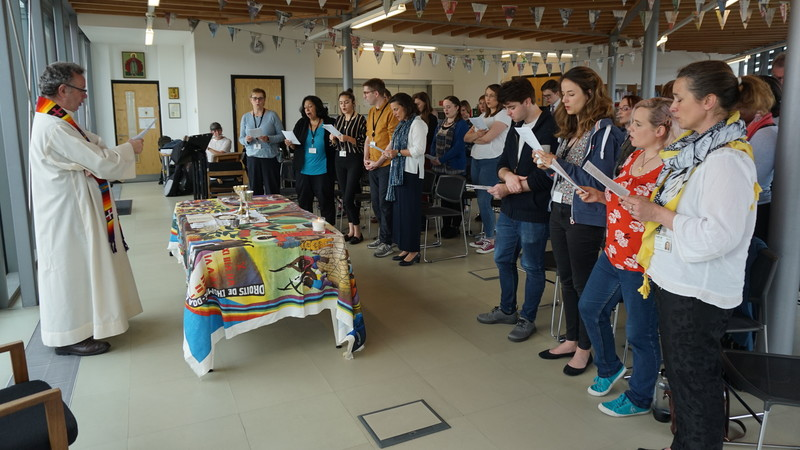 A Mass at CAFOD offices in May 2019