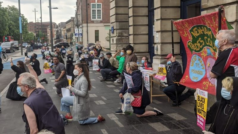 Newham residents protest