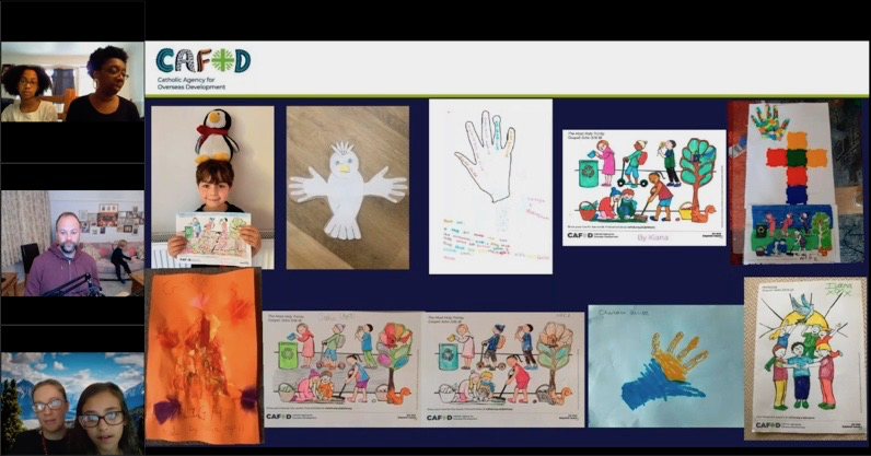 A screenshot for CAFOD's children's liturgy live
