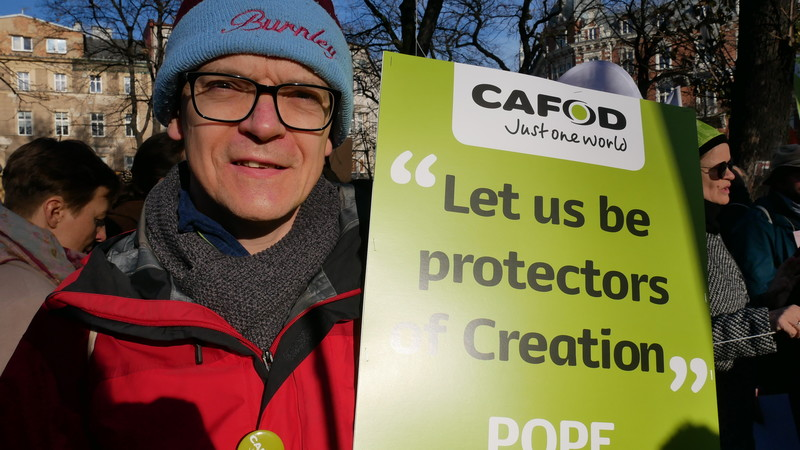 Dominic Aunger, a CAFOD campaigner