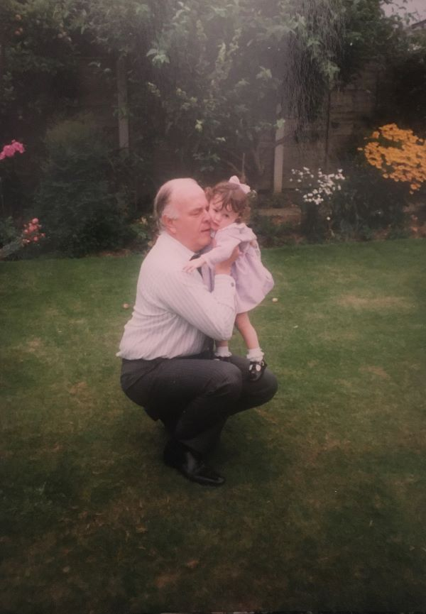 Therese with her Grandpa