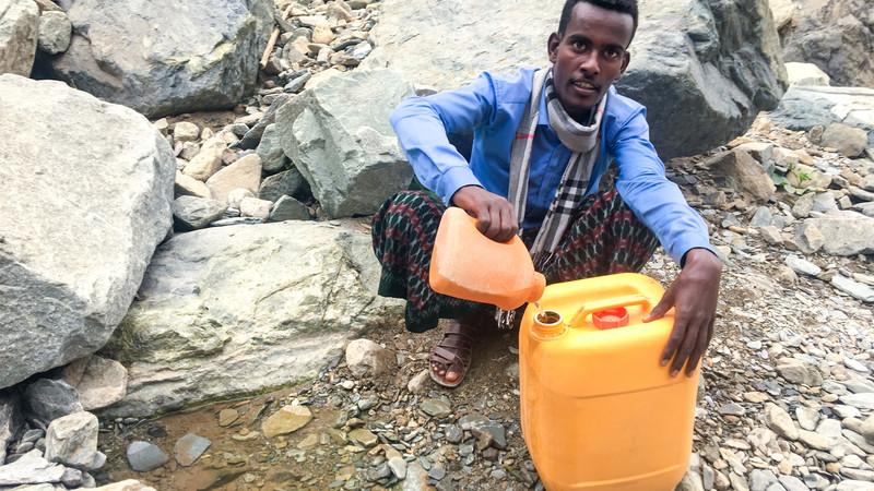 Abdella at water source
