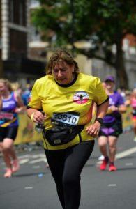 Runner in London Landmarks Half Marathon